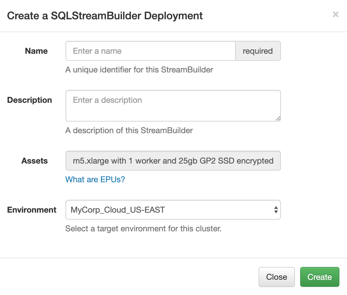 Eventador SQLStreamBuilder - Eventador io Documentation